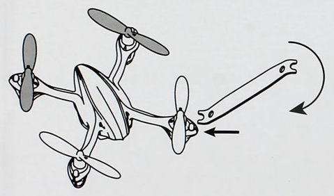 Afmontering af Hubsan propeller